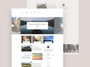 Lifestyle Blog Website Template
