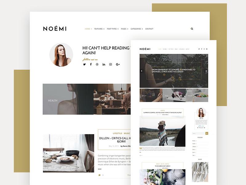 Noemi : Simple Blog PSD Template