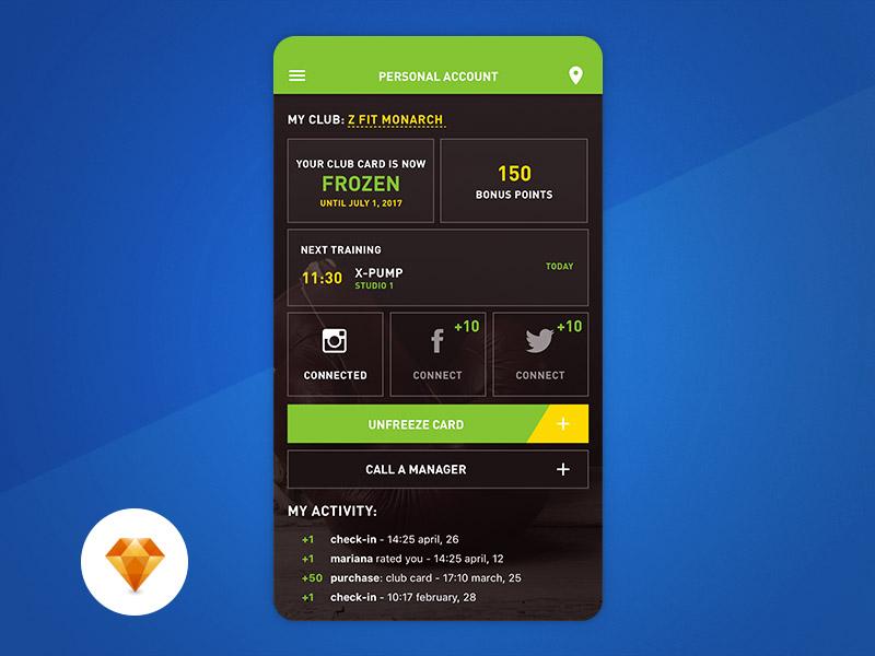 Personal Account UI Design