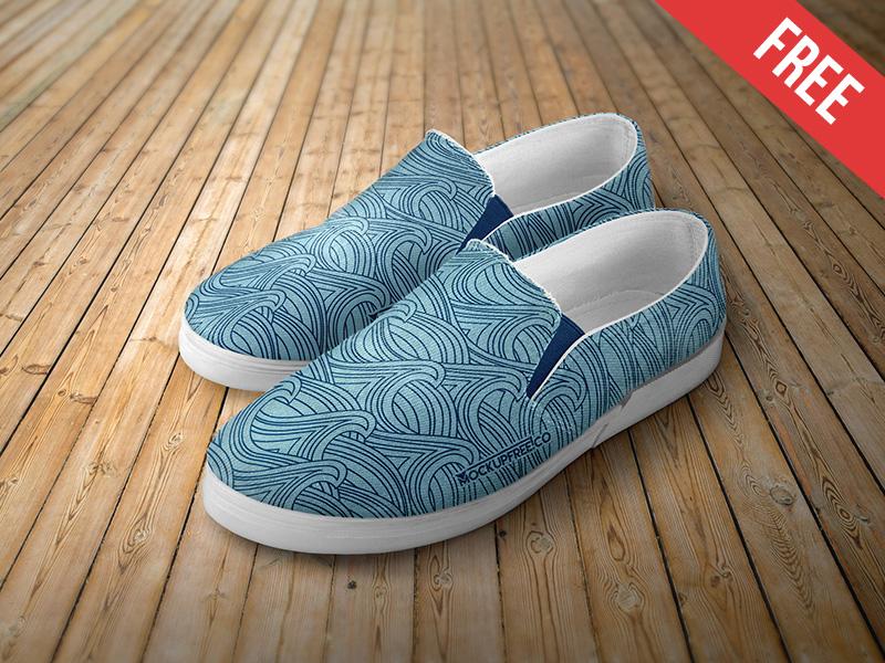 Realistic Slip-on Shoes Mockup