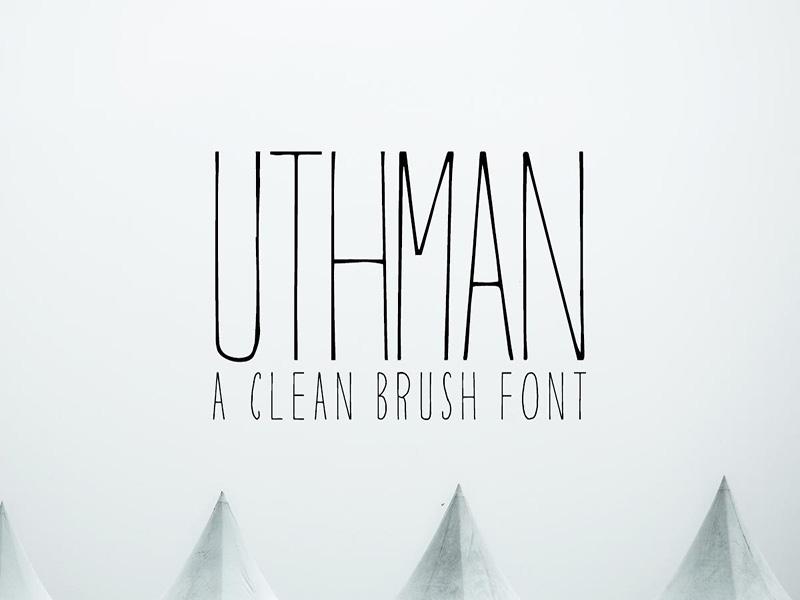 Uthman – Free Clean Brush Font