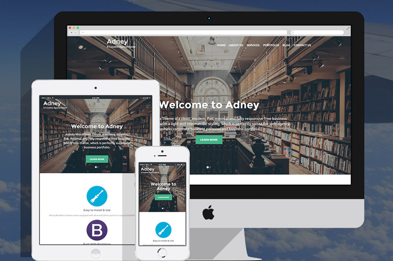 Adney – Responsive Business WordPress Theme