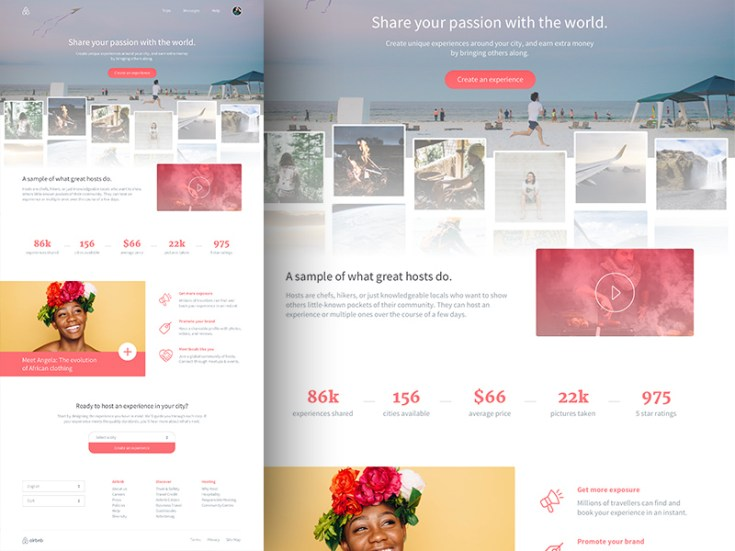 Airbnb Landing Page Template