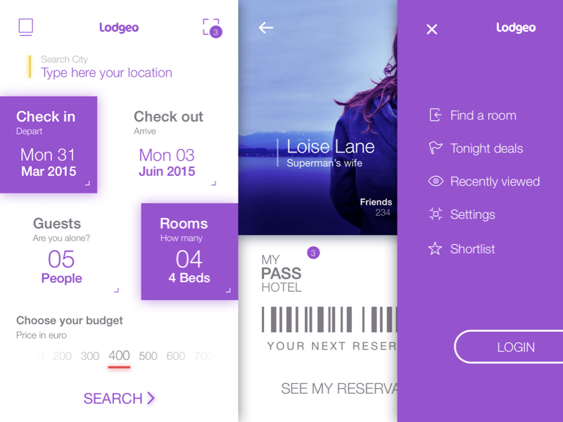 Booking App UI Design