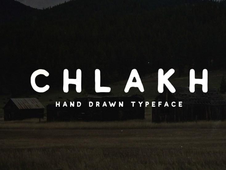Chlakh - Free handwritten Vintage Font