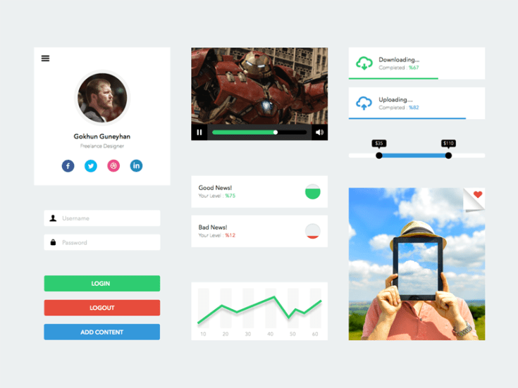 Clean Sketch UI Kit