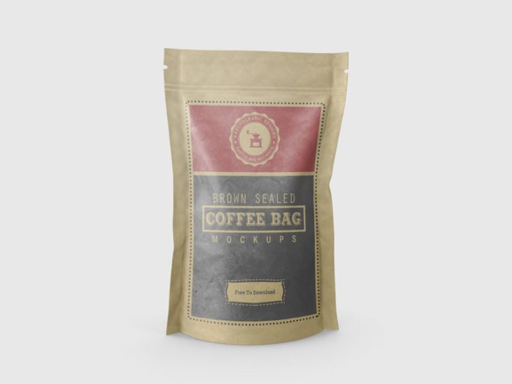 Coffee Bag Mockup PSD
