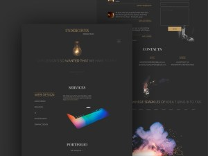 Dark Minimal Website Template
