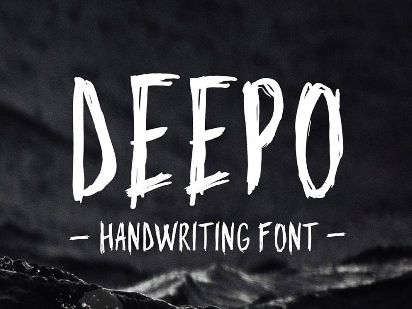 Deepo – Free Handwriting Typeface