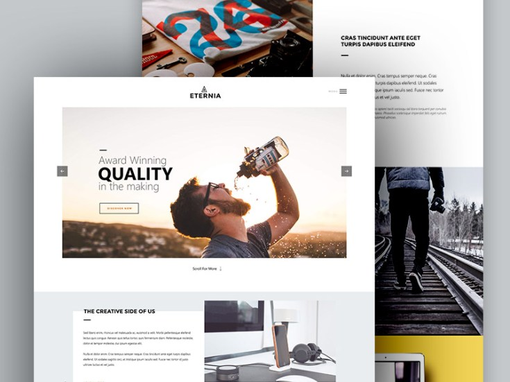 Eternia - Multipurpose PSD Template
