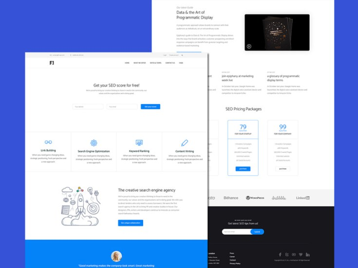 Flick : SEO Service Website Template