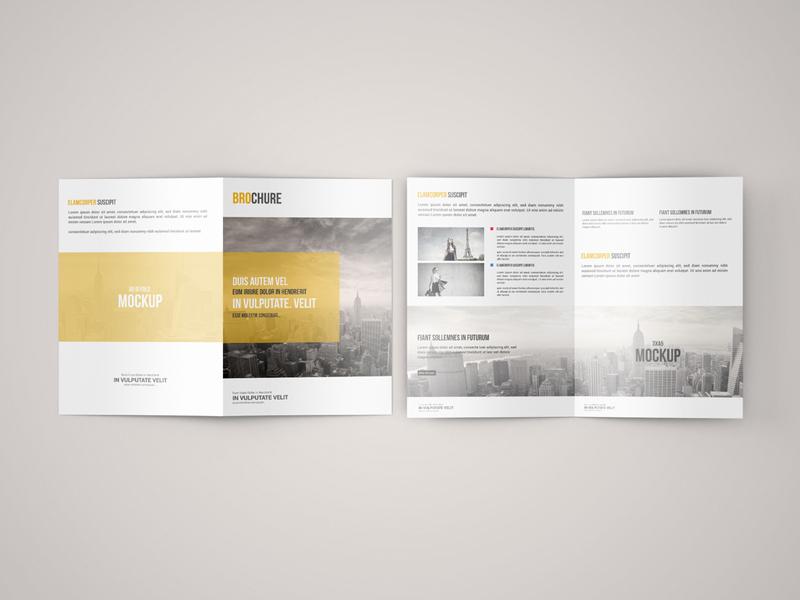 Free A5 Bifold Brochure Mockup