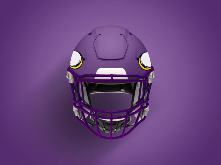 Free Football Helmet Mockup