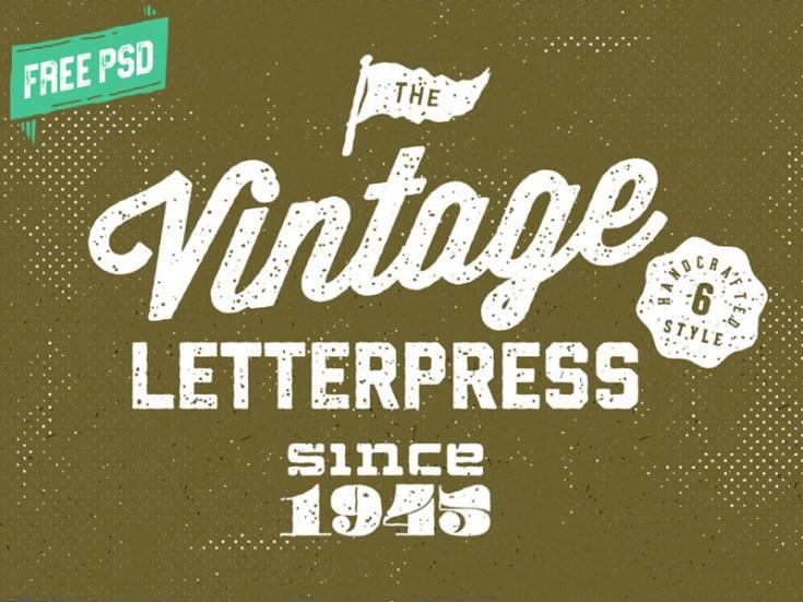 Free Retro Letterpress Text Effects