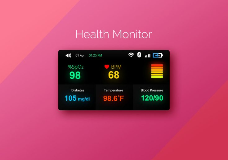 Health Monitor UI PSD