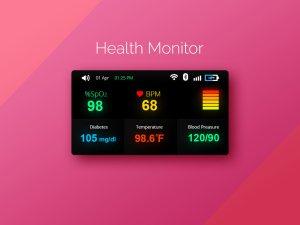 Health Monitor UI PSD