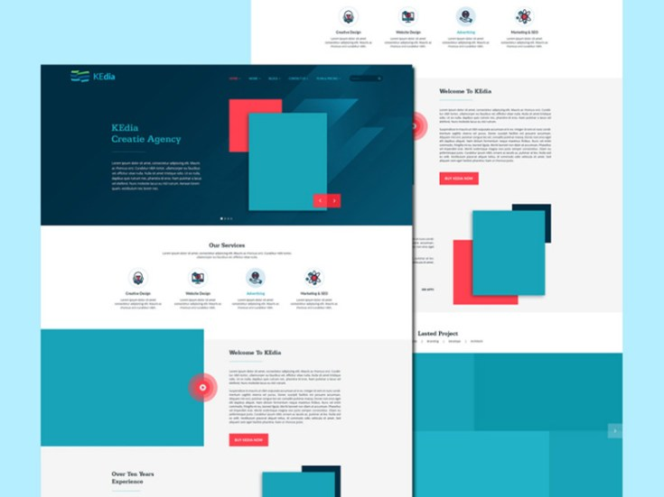 Kedia - Portfolio Website Template