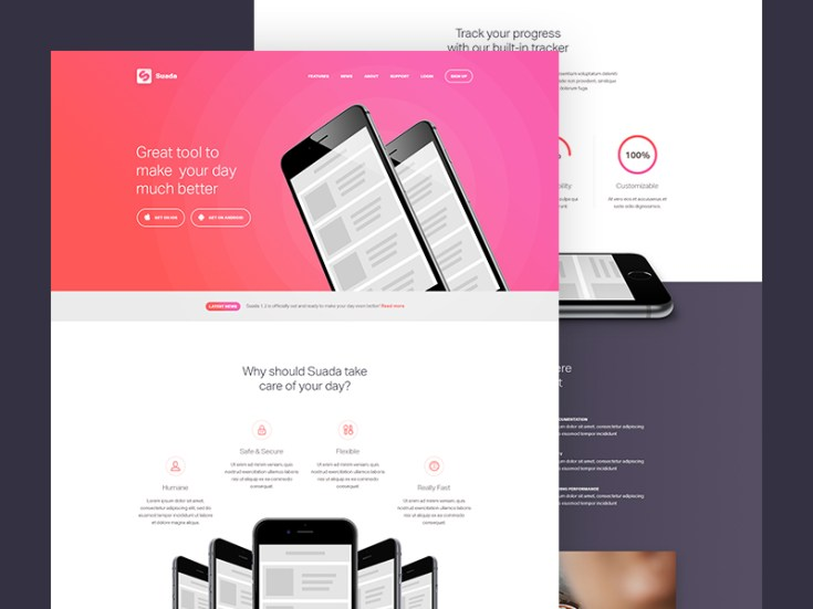 Free Mobile App Landing Page Template