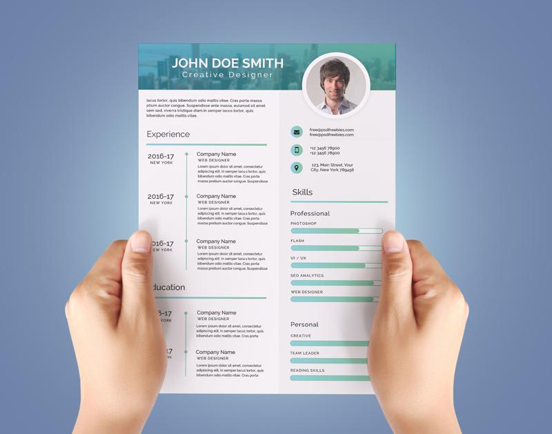 Modern CV Template PSD