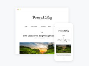 Free Responsive Personal Blog WordPress Theme