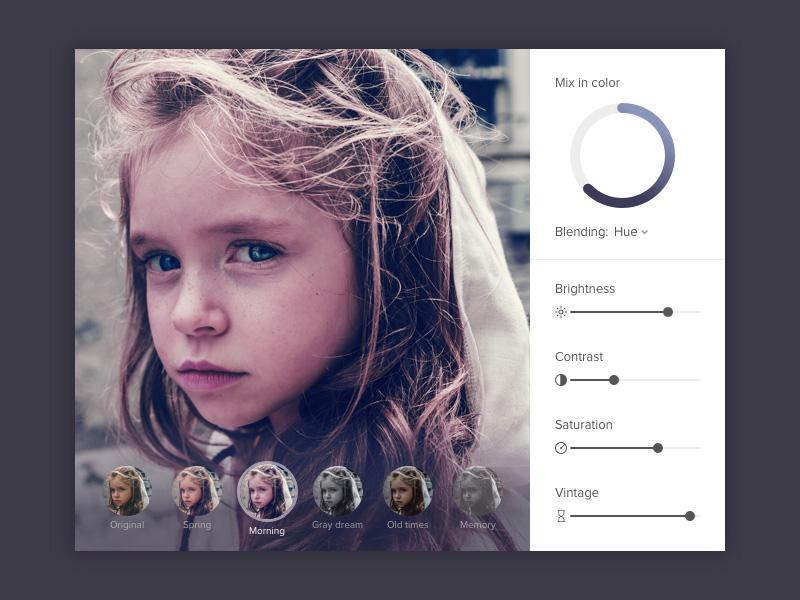 Photo Filter UI Design