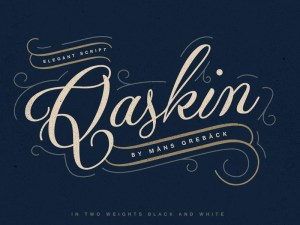 Qaskin Black Typeface