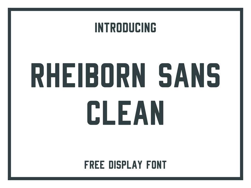 Rheiborn Sans – Free Clean Typeface