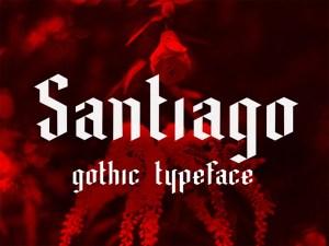 Santiago : Free Gothic Font