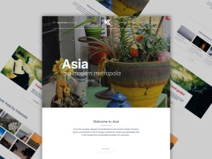 Travel Web Sketch Template