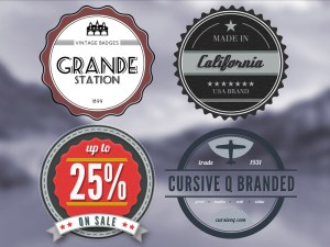 Free Vintage Look Badges PSD
