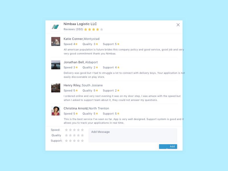 Web Reviews Modal Sketch Template