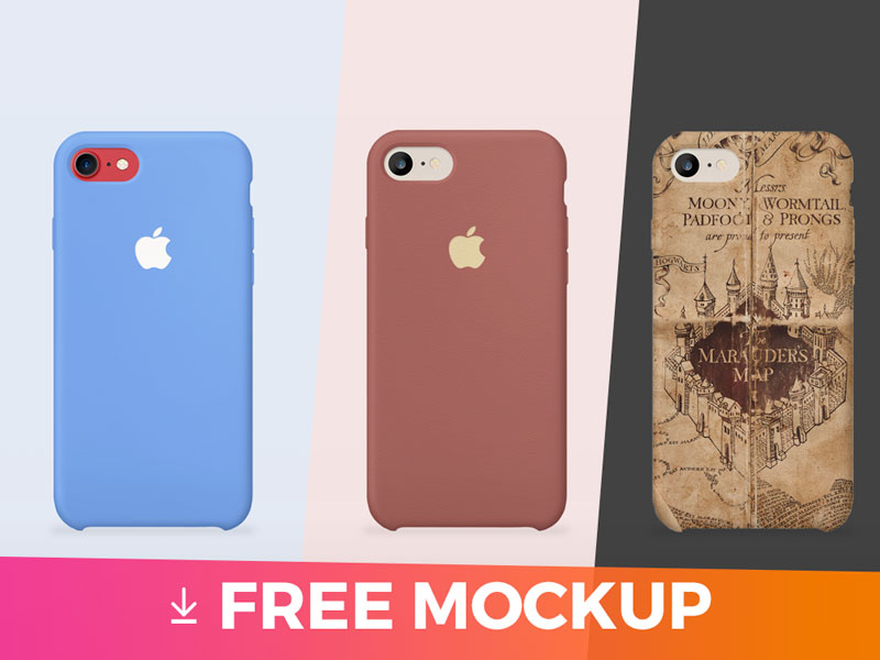 iPhone 7 Cover Mockup PSD