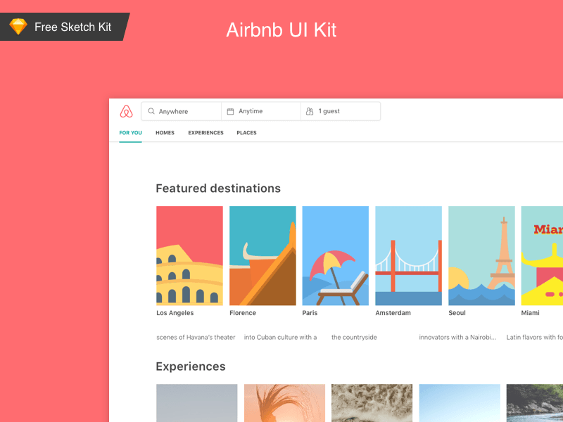 AirBnb UI Kit (Sketch)