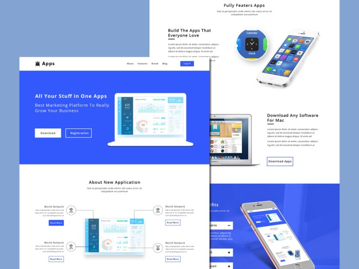 App Download Website Template