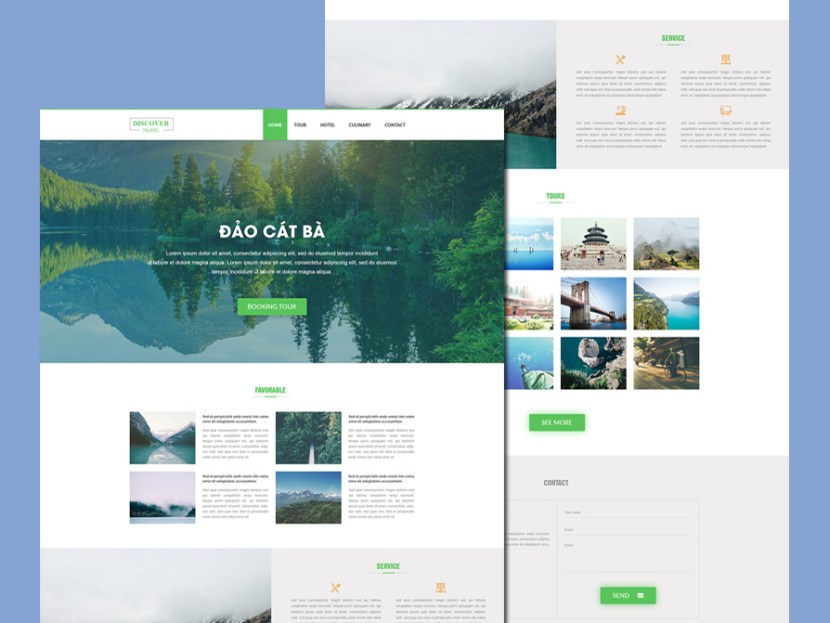 Discover – Free Travel PSD Template