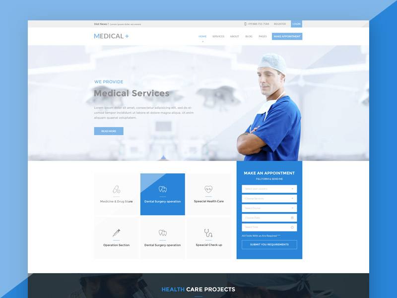 Free Doctor Website Template