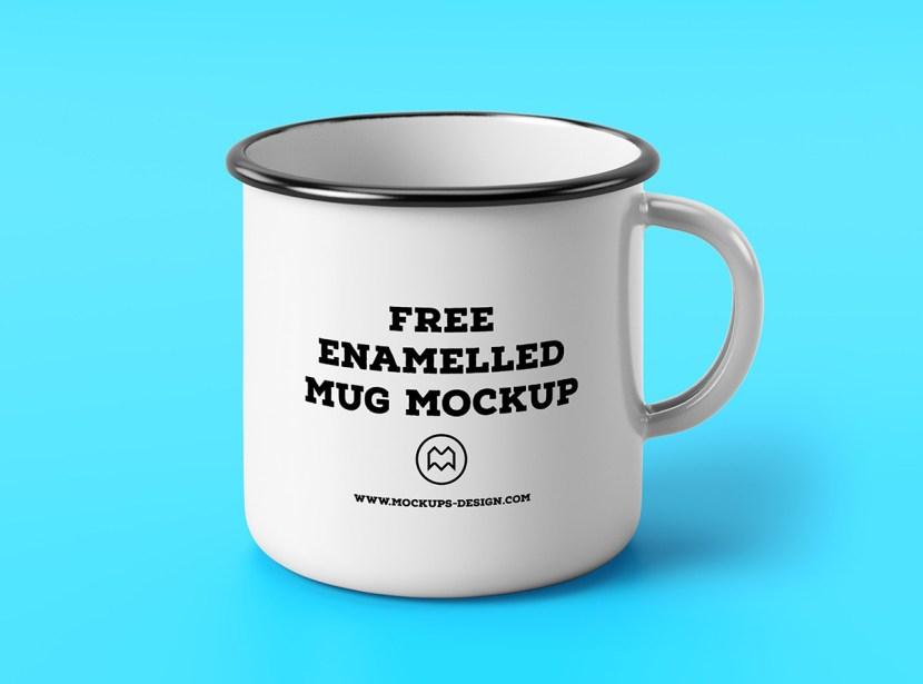 Enamel Mug Mockup Template