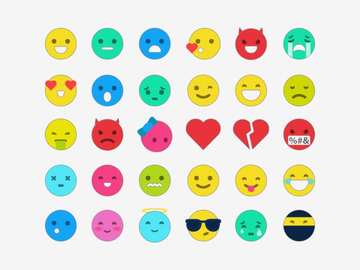 Flat Emoticon Template
