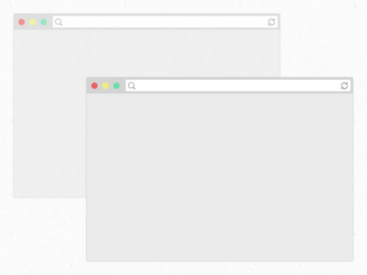 Flat Safari Browsers Mockup