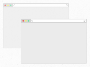 Flat Safari Browsers Mockup