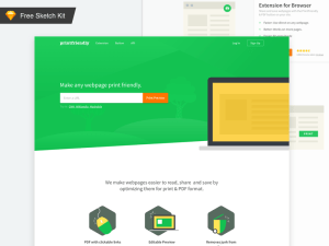 Flat Sketch Landing Page Template