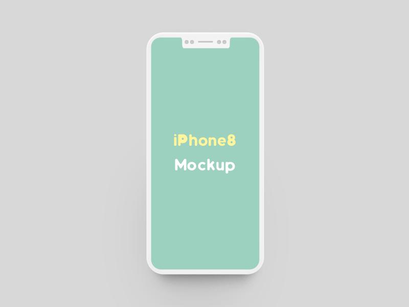 Flat iPhone 8 Mockup
