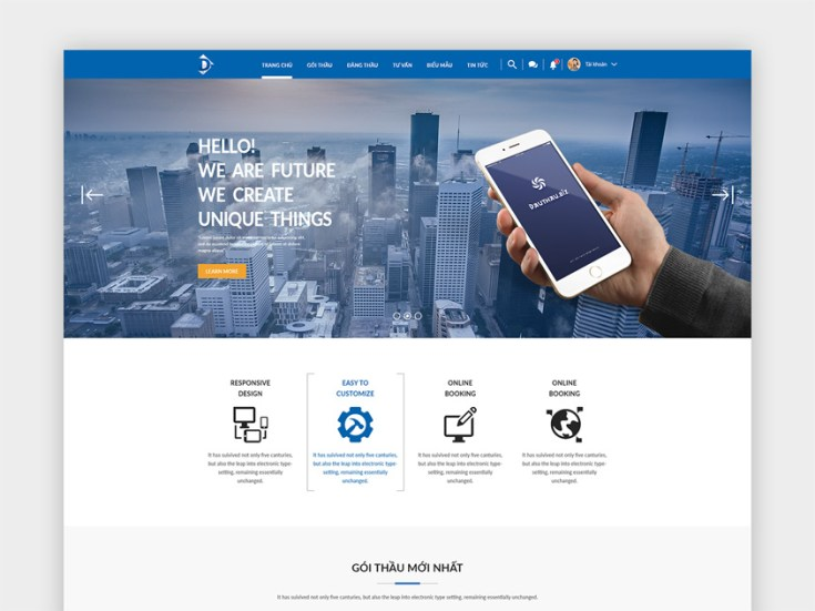 Free Auction Website Template