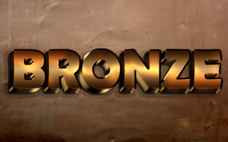 Free Bronze Text Effect
