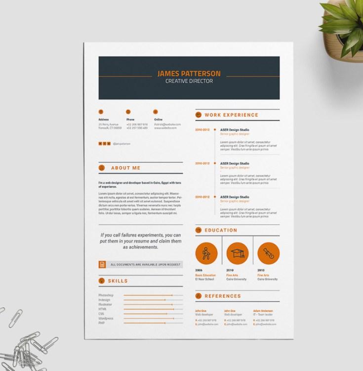 Free Creative Indesign Resume Template
