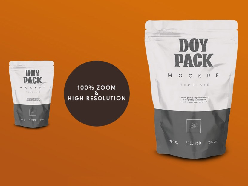 Free Doy Pack Mockup PSD