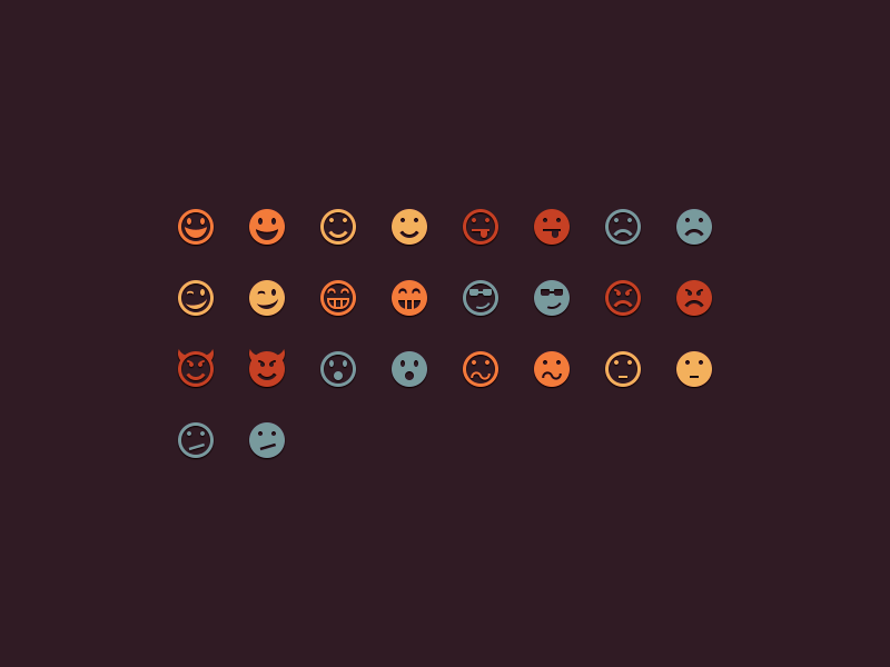 Free Emoticons Icons PSD