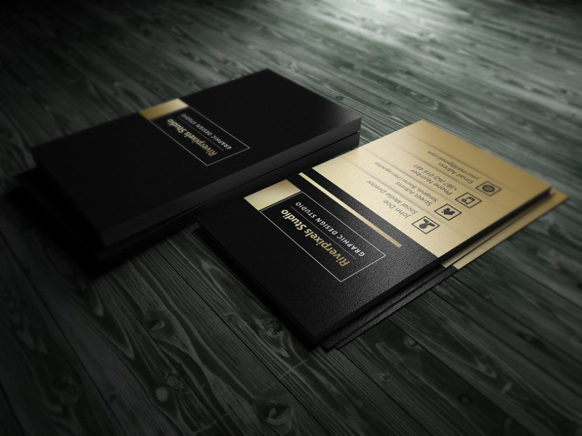 Free Gold Business Card Template