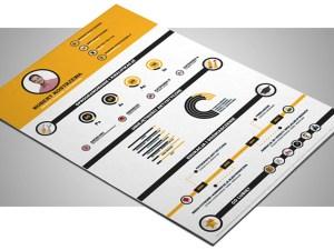 Free Infographic Resume Template (Illustrator)