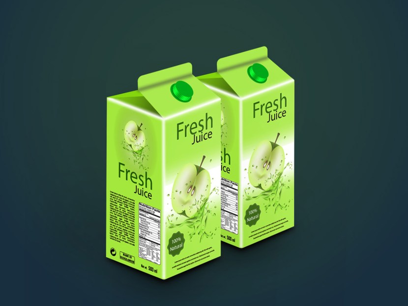 Free Juice Packaging Mockup Template